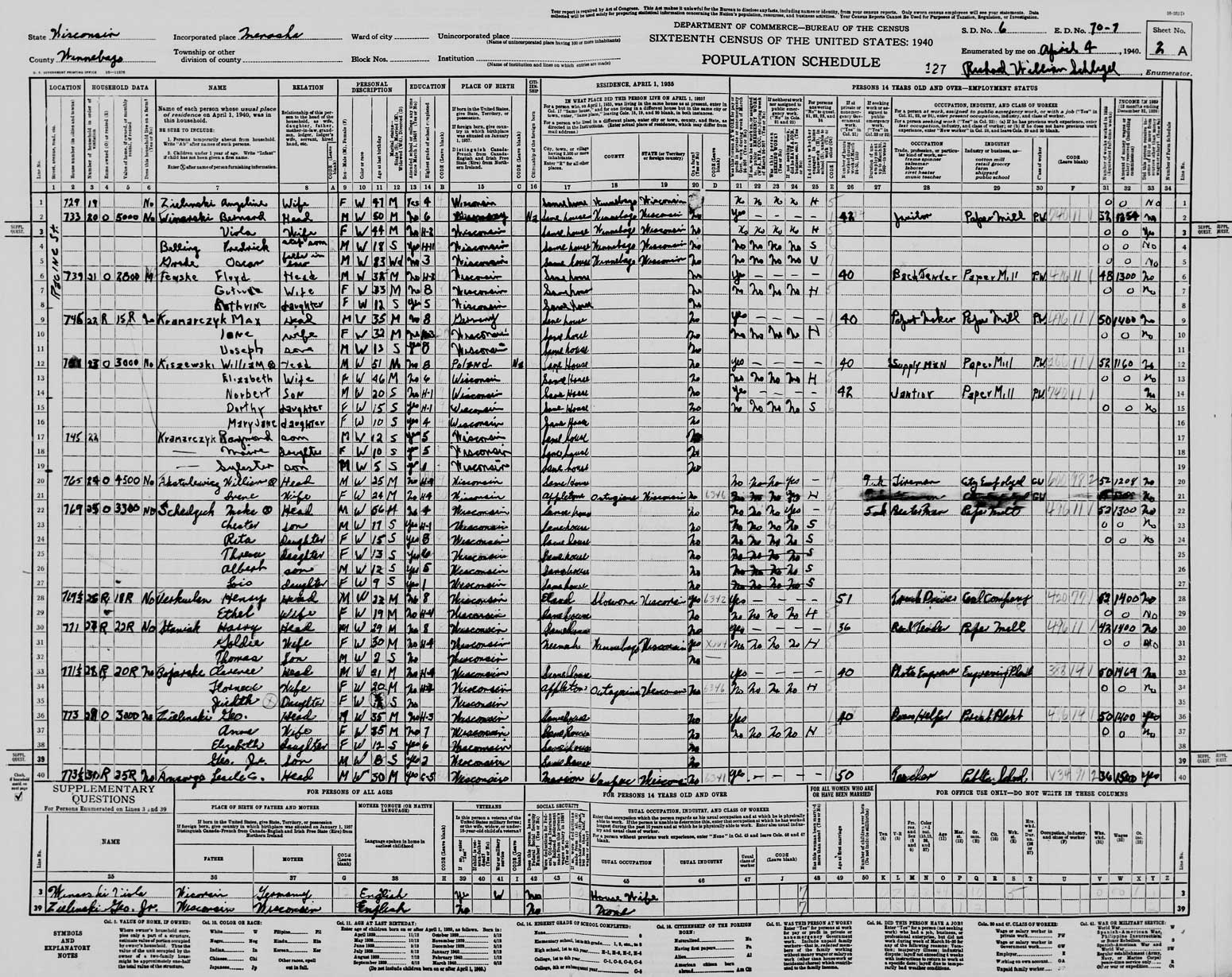 Genealogy Data Page 25 Notes Pages