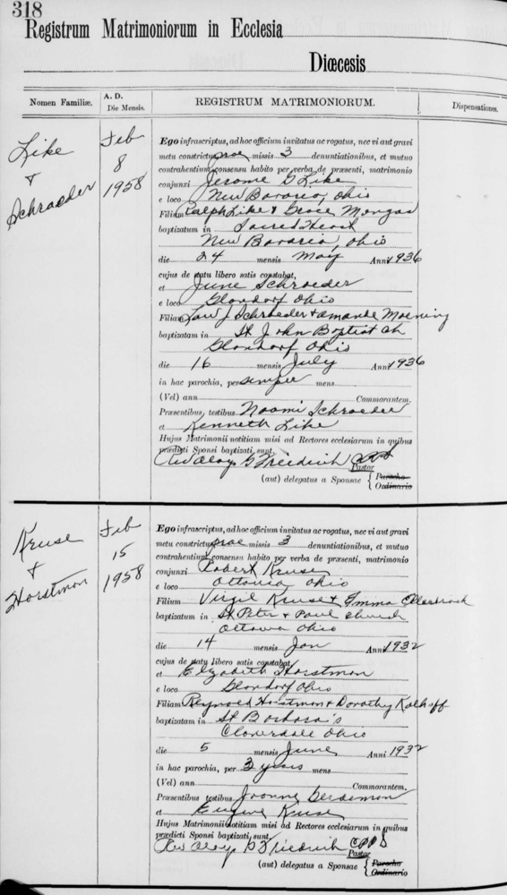 Genealogy Data Page 58 (Notes Pages)
